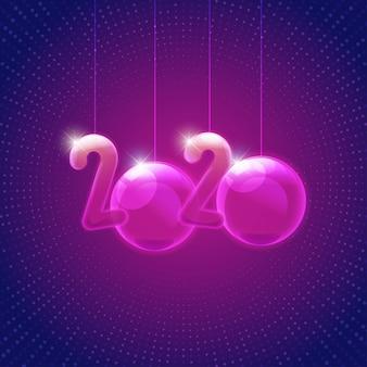 2020 nieuwjaarsteken in levendige stijl