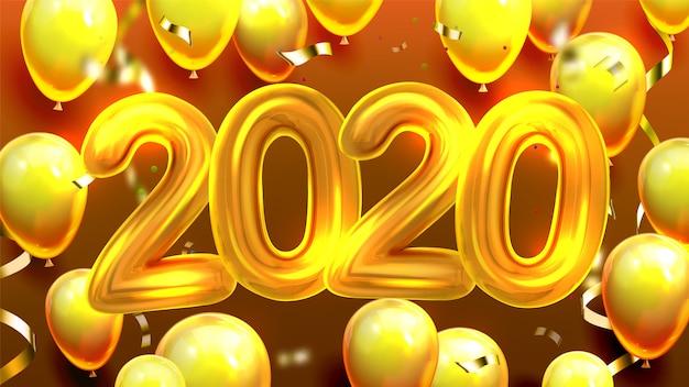 2020 versierde ballonnen banner
