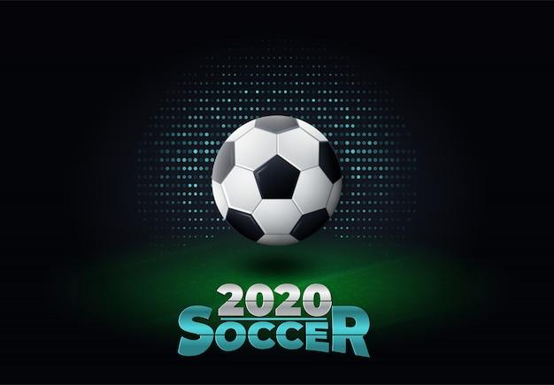 2020 voetbal banner illustratie