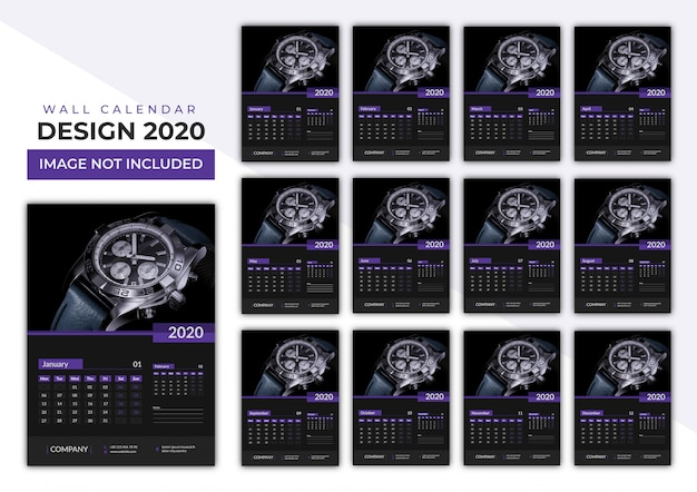 2020 wandkalender set