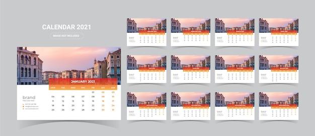 2021 bureaukalender illustratie
