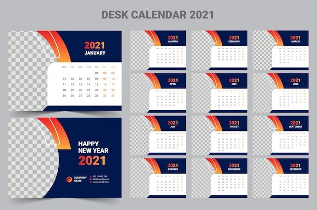 2021 bureaukalender sjabloon