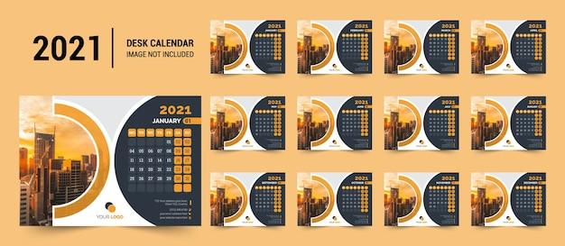 2021 bureaukalendersjabloon
