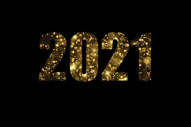 2021 elegante gouden tekst