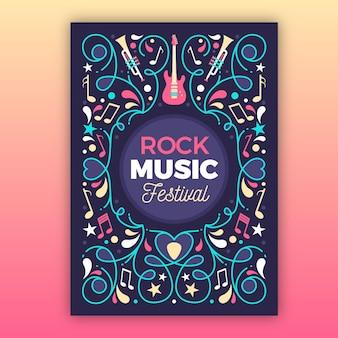 2021 geïllustreerde flyer voor muziekfestival