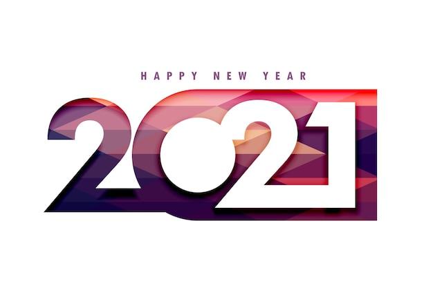 2021 gelukkig nieuwjaar 3d papercut stijl achtergrond