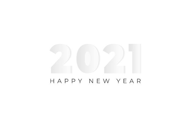 2021 gelukkig nieuwjaar achtergrond illustratie met papier gesneden kunststijl.