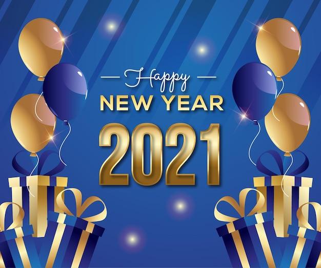2021 gelukkig nieuwjaar achtergrond
