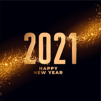 2021 gelukkig nieuwjaar glanzend sparkles achtergrondontwerp