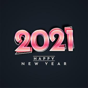 2021 gelukkig nieuwjaar ontwerp illustratie