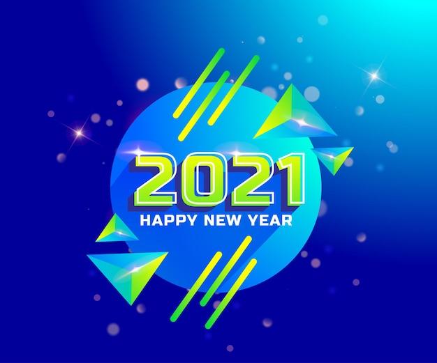 2021 gelukkig nieuwjaar vakantie achtergrond