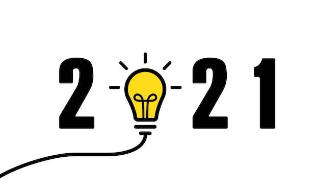 2021 jaarbanner. gelukkig nieuwjaar illustratie. vectoreps 10. geïsoleerd op witte achtergrond.