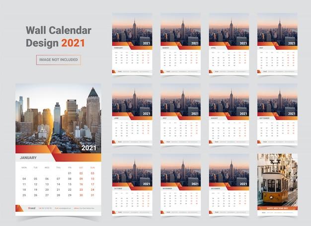 2021 kalendersjabloon