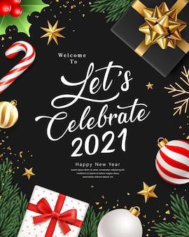 2021 laten we een gelukkig nieuwjaar vieren