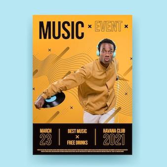 2021 muziek evenement poster sjabloon thema