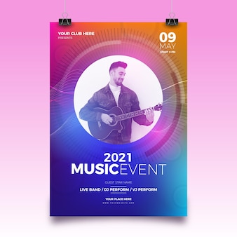 2021 muziekfestival poster