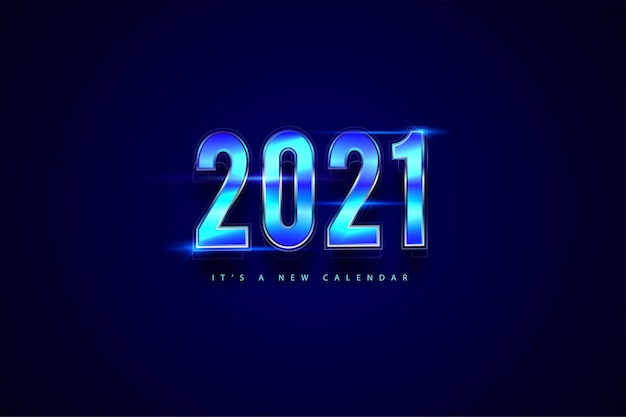 2021 nieuwjaarskalender, vakantie illustratie van achtergrond met kleurovergang kleurrijke sjabloon