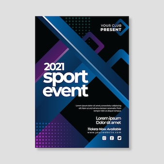 2021 poster sjabloon voor sportevenementen