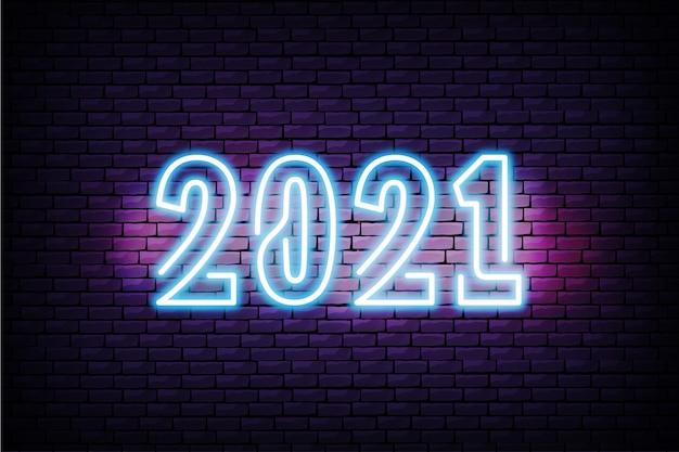 2021 realistisch neonontwerp