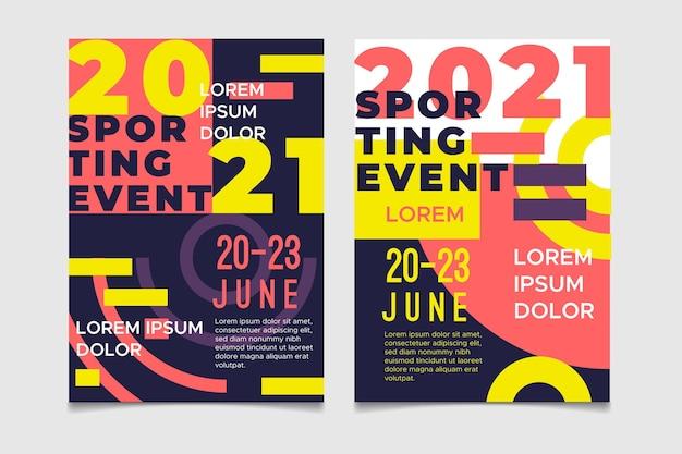 2021 sportevenement poster concept