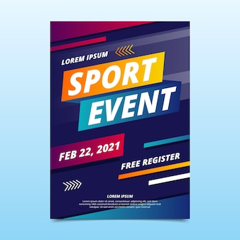 2021 sportevenement poster sjabloon