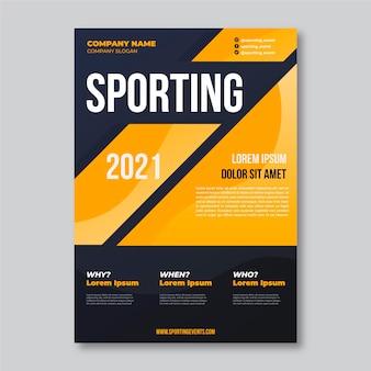2021 sportevenement poster sjabloon