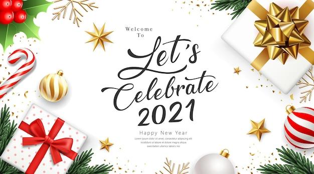 2021 vier gelukkig nieuwjaar