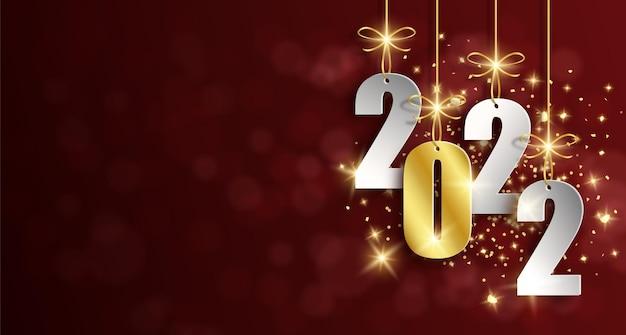 2022 achtergrond gelukkig nieuwjaar