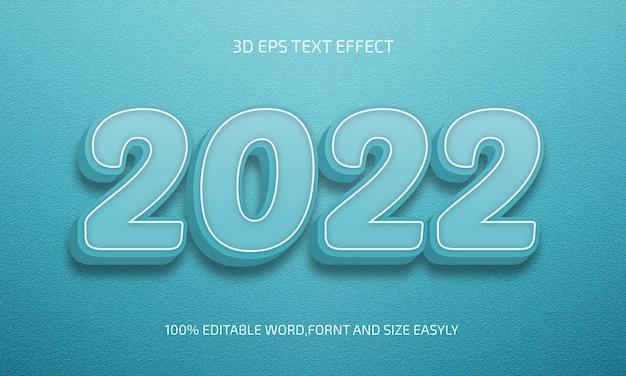 2022 bewerkbaar 3d-tekststijleffect