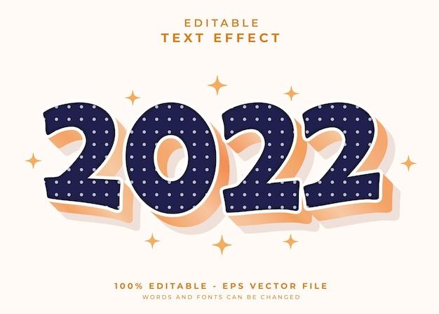 2022 bewerkbaar teksteffect