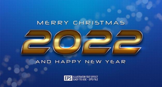 2022 gelukkig nieuwjaar elegant ontwerp op een blauwe achtergrond