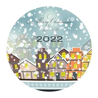 2022 gelukkig nieuwjaar en trouw kerstachtergrond