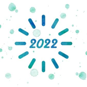2022 gelukkig nieuwjaar. nummers 3d-abstracte stijl. vector lineaire getallen. ontwerp van wenskaarten. vectorillustratie. gratis vector