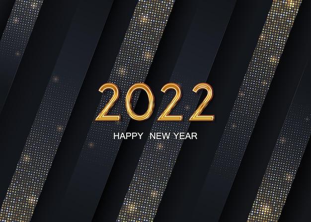 2022 gelukkig nieuwjaar op de abstracte achtergrond vector
