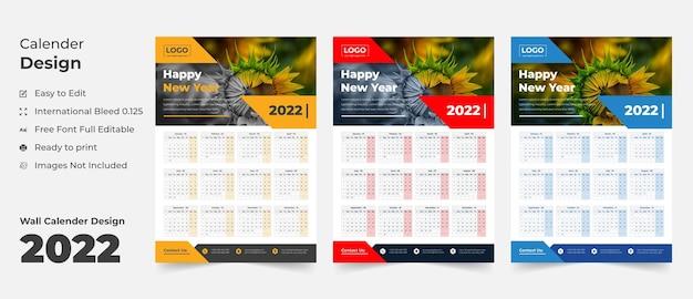 2022 muur kalender sjabloon schema kalender jaarlijks business planner tijdschema evenementen kalender