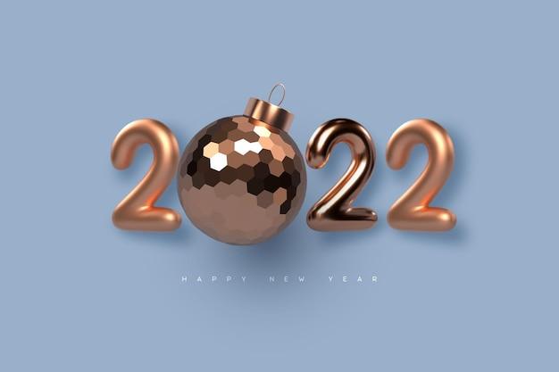 2022 nieuwjaar teken.