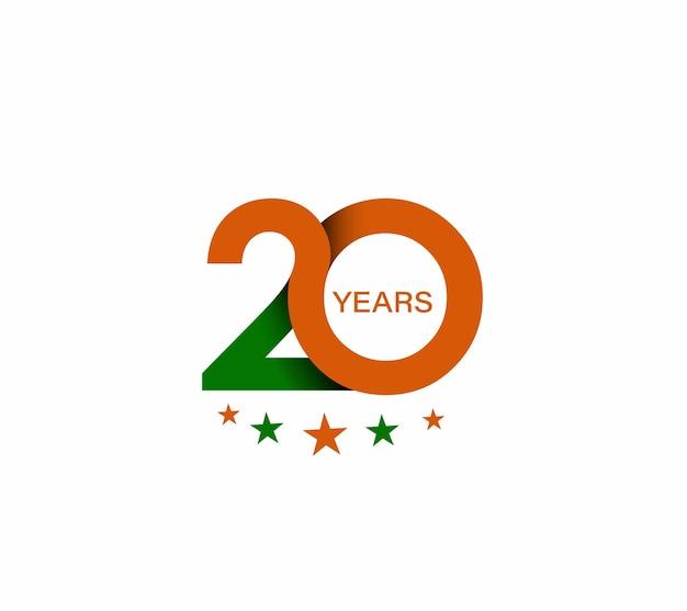 20e verjaardag viering ontwerp.