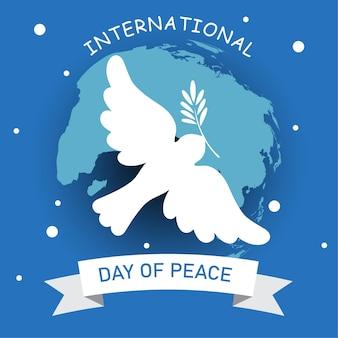 21 september, internationale vredesdag. illustratie concept huidige vrede wereld.