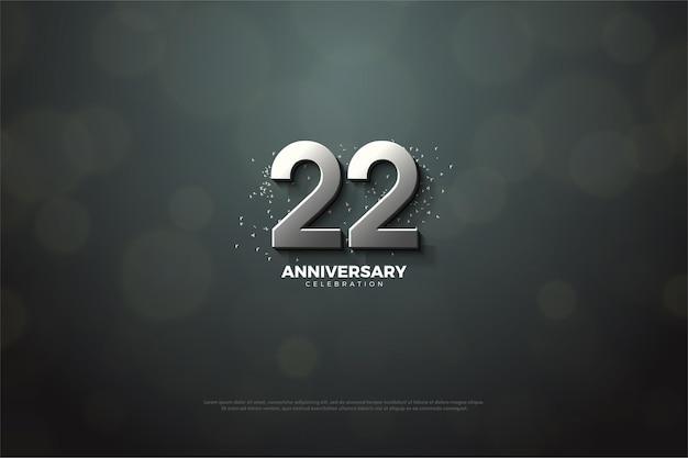 22e verjaardag met zilveren nummer