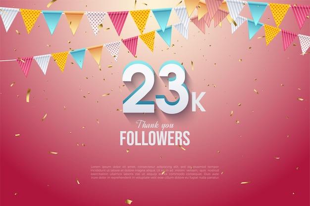 23k volgers met moderne driedimensionale getallen