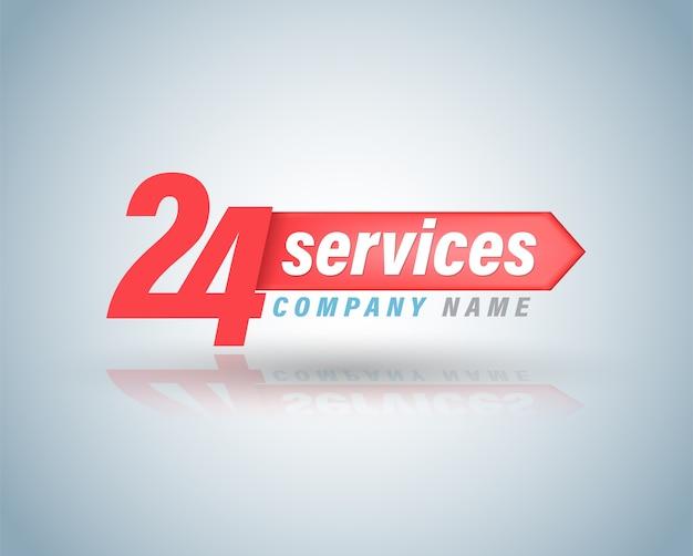 24 diensten symbool vectorillustratie.