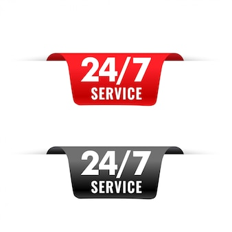 24-uurs service linten tag in 3d-stijl
