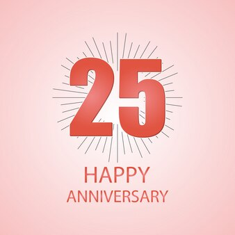 25 gelukkige verjaardag typogrpahy