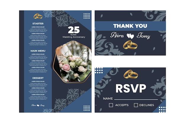 25 jaar huwelijksverjaardag briefpapier collectie