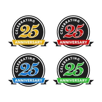 25 jaar verjaardag logo vector