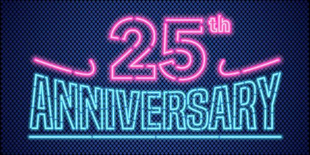 25 jaar verjaardag vectorillustratie, banner
