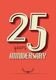 25 jaar verjaardag