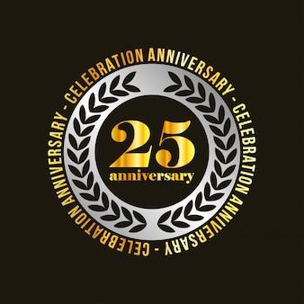 25 jaar vieringsvector