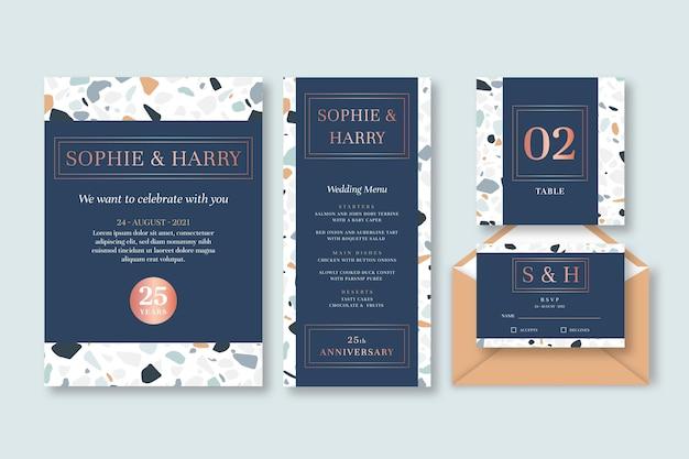 25-jarig jubileum briefpapier set