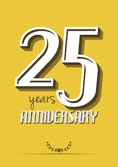 25-jarig jubileumlabel